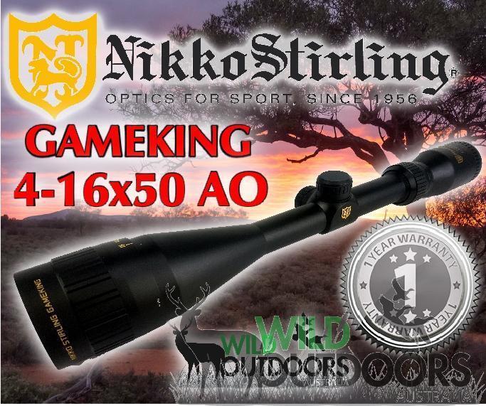 Nikko Stirling-Rifle-rey de juego - 4-16x50AO - la la la mitad Mil Dot Retícula ae27c4