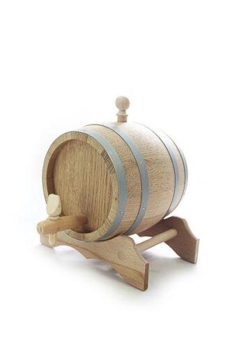 Holzfass mit Ständer ❀ 1 Liter ❀ Eichenholz Fass ❀ natur ❀ trocken ❀ versiegelt