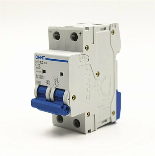 CHINT AC DC Disjoncteur NB1Z-63 C Type AC400V DC220V 2 Pole 16Amp
