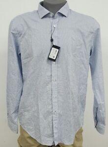 5835050be Hugo Boss Black Label Slim Fit White Geometric Men's L/S Shirt NWT ...