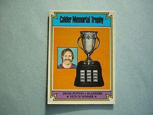 1974-75-O-PEE-CHEE-HOCKEY-CARD-252-DENIS-POTVIN-ROOKIE-TROPHY-EXNM-SHARP-OPC