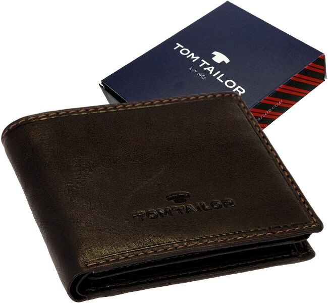 Tom Tailor Leather Men's Wallet - Lary - Small Wallet, Purse, New