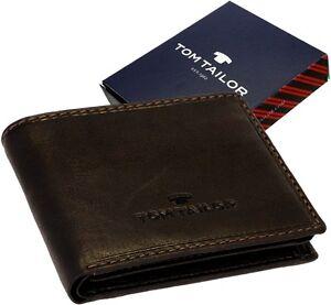 Tom-Tailor-Leder-Herren-Geldboerse-Lary-kleiner-Geldbeutel-Portemonnaie-Neu