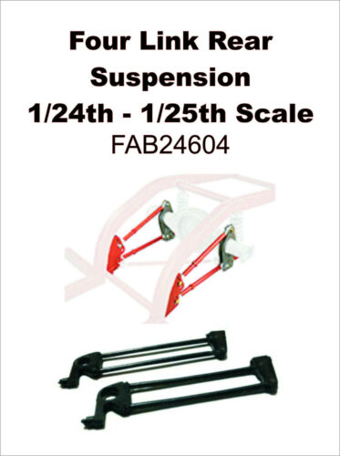 Custom Four Link Rear Suspension 1//24th 25th Scale FAB24604 RARE!