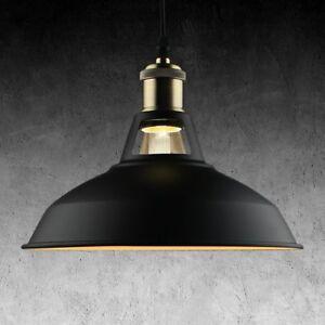 Details about Vintage Industrial Metal Hanging Kitchen Lights Ceiling  Mounted Barn Light Black