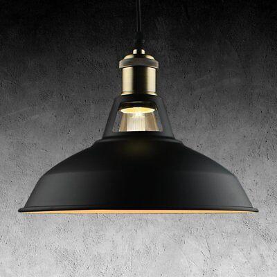 Vintage Industrial Metal Hanging Kitchen Lights Ceiling Mounted Barn Light  Black 607885666194 | eBay