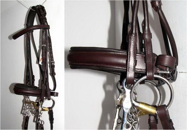 FSS German HAVANA BROWN Padded ROLLED Comfort Crank  Double Dressage Bridle Reins  be in great demand