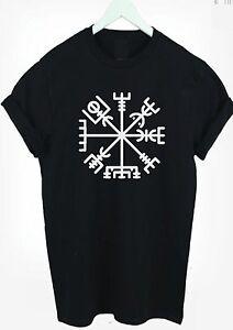 Viking-Compass-T-Shirt-Vegvisir-The-Norse-Symbol-t-shirt-tee-kids-amp-adult-s-xxxl