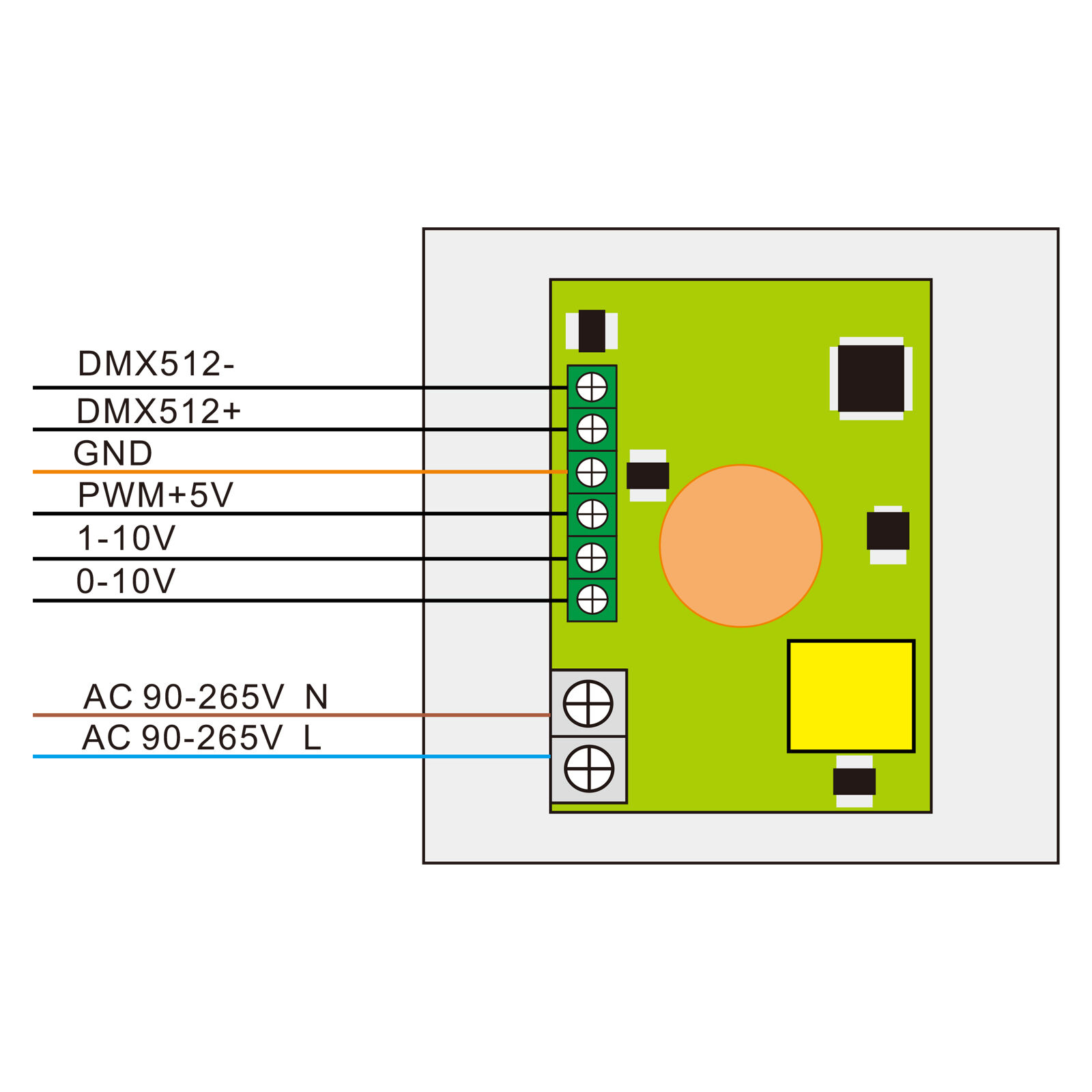 LED Dimmer 0-10V mit Fernbedienung Helligkeitsregler für Panel schalter