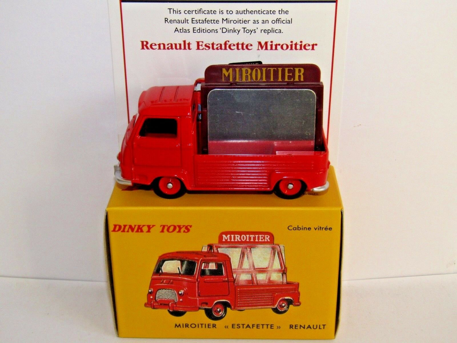 ATLAS DINKY TOYS RENAULT ESTAFETTE MIROITIER RED 564 UK ISSUE