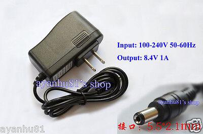 AC-DC Lithium Ion Battery Charger Li-ion Li-Po 2S 8.4V 7.2V 7.4V 1A Wall Socket