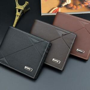 Fashion-Men-039-s-Leather-Wallet-Pocket-Bifold-Purse-Clutch-ID-Credit-Card-TOP