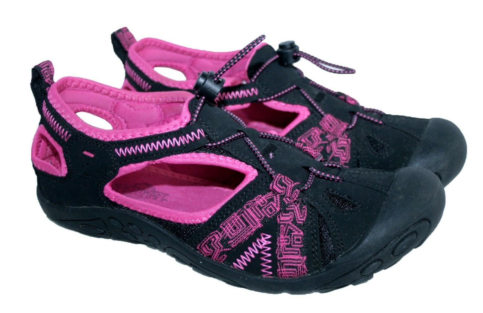 LADIES ACTIVE, ADVENTURE TOGGLE SIZE SUMMER SPORTS SHOE BLACK PINK SIZE TOGGLE 5 7ac96b