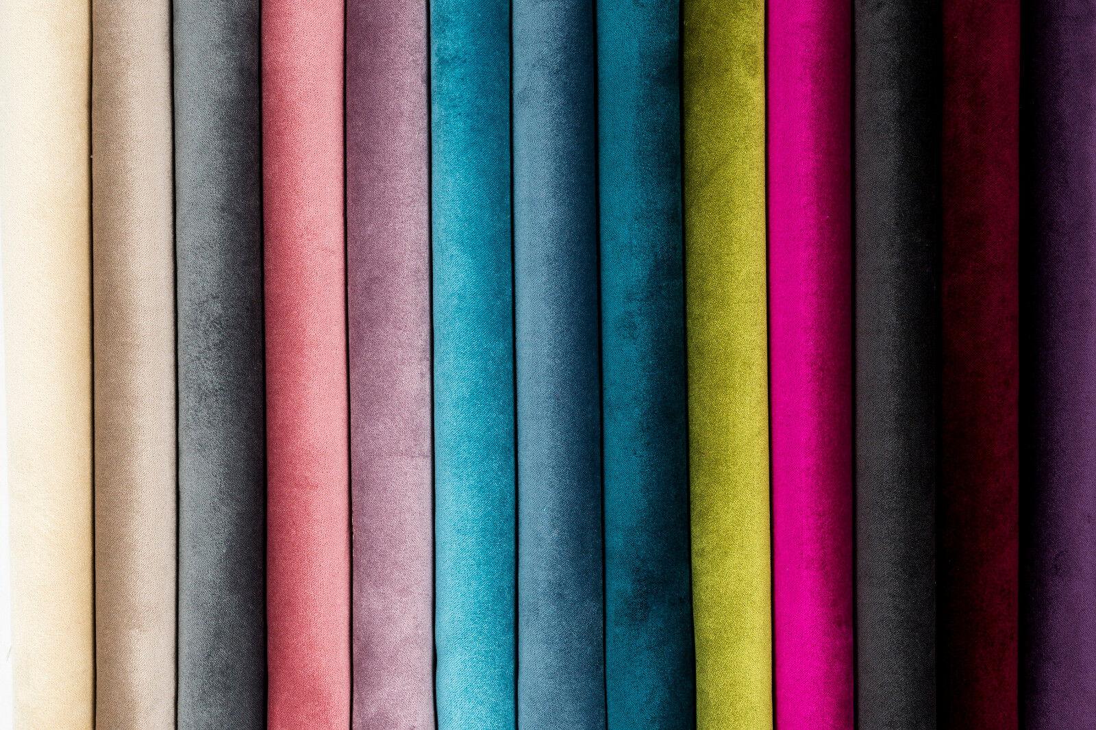 Mcalister Plain Matt Velvet Upholstery Fabric By Metre