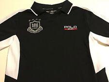 NEW Nwt Polo Ralph Lauren Polo Boys Black Summer S/S Shirt Size Medium (10 12)