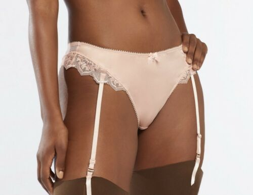 Savage X Fenty Mosaic Lace High-Waist Garter Thong