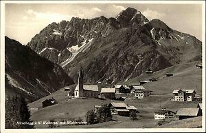 Hirschegg-Osterreich-Steiermark-AK-1940-Widderstein-Walsertal-Alpen-Dorf-Kirche