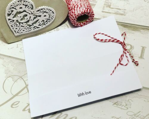 Christmas Gift Voucher Concert// Present wallet card Personalised FREE envelope