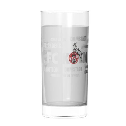 """FC KÖLN WASSERGLAS TRINK GLAS /""""Tradition/"""" 2er SET 1"""