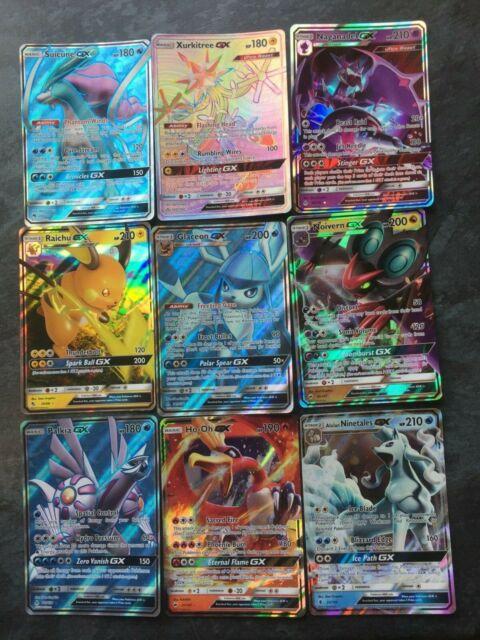 GX Holo Rare Pokemon Cards - Various GX Sets