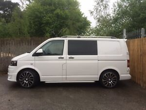 FULLY FITTED  ***** VW TRANSPORTER T5  PRIVACY BARN DOOR WINDOWS