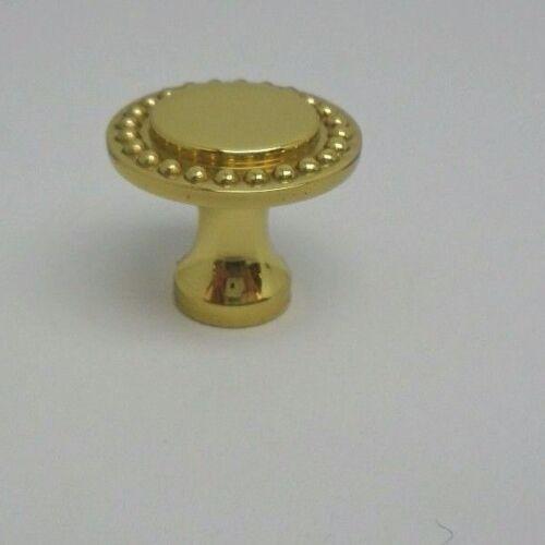 "Baldwin 1/"" Beaded Knob Polished Brass 4442-030-BIN 558C"