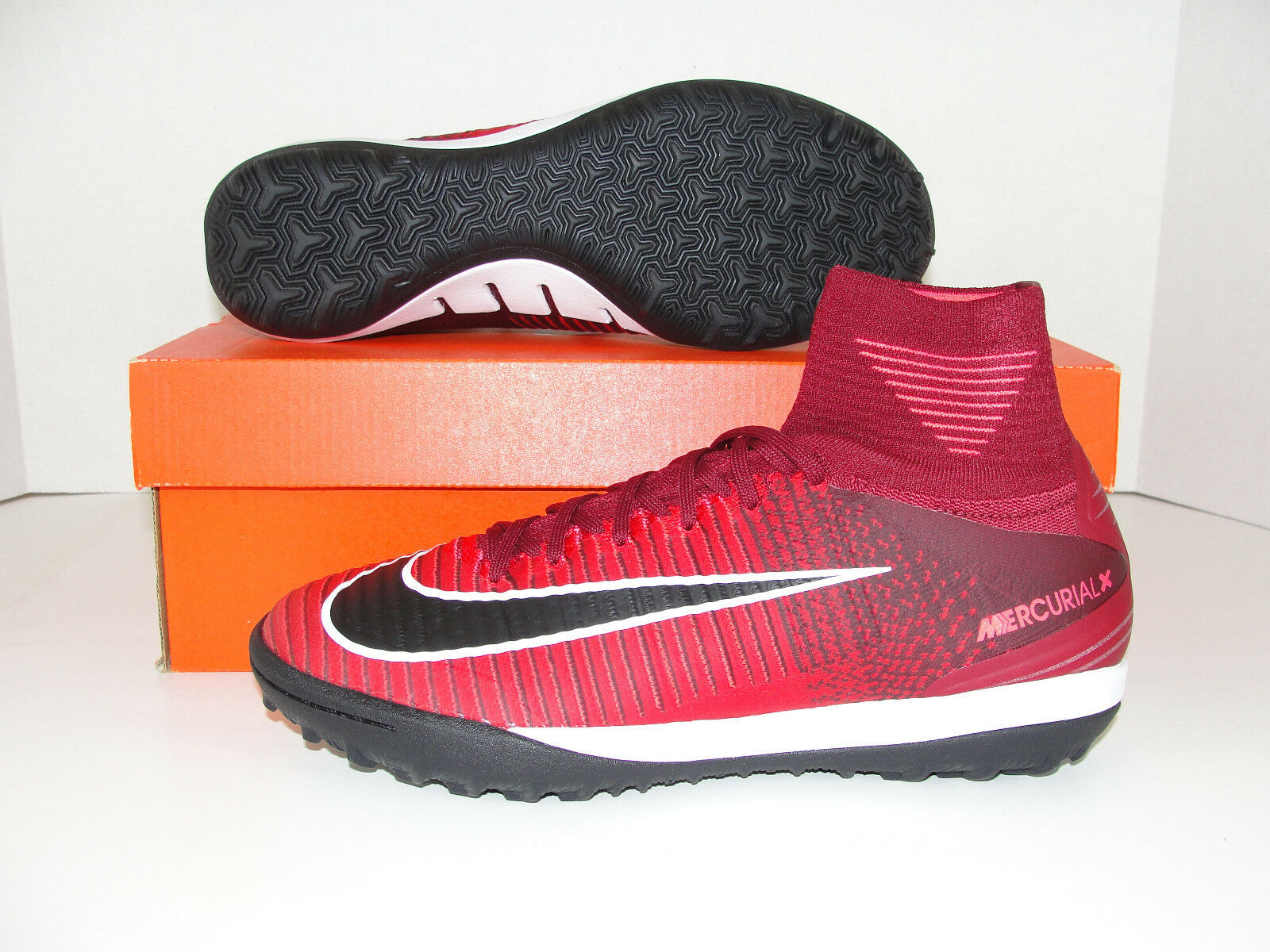 Nike MercurialX Proximi II DF TF Turf Soccer Shoes Red Black 831977-606 Men 7.5