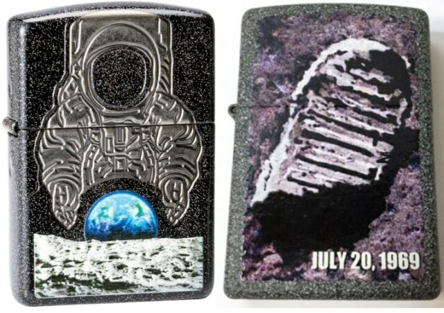ZIPPO Collectible 50th Anniversary Moon Landing 2 Lighter Set PLANETA 29862 L@@K