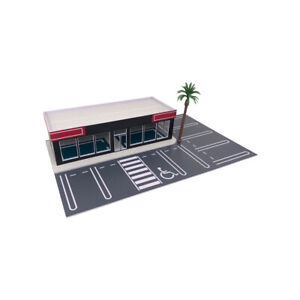 Outland Models Scenery for Model Cars Car Dealership / Car Display Showroom 1:64