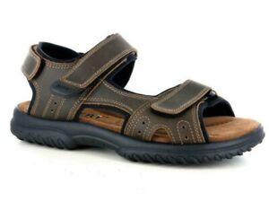 PATRIZIA 7923 Tortora sandali scarpe uomo strappi comfort pelle italiani 100/%
