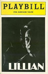 1986-Playbill-LILLIAN-Zoe-Caldwell-One-Woman-Show-Hellman-William-Luce-FLOP