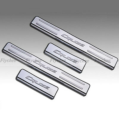 Stainless Door Sill Scuff Plate Trim Fit For 2009 10 11 2012  Chevrolet  Cruze