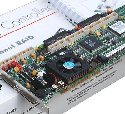 Aspirante Scsi Raid 0/1 Pci Controller Icp Vortex Gdt6128rd 37 Apparecchi Per 50 + 68-pin