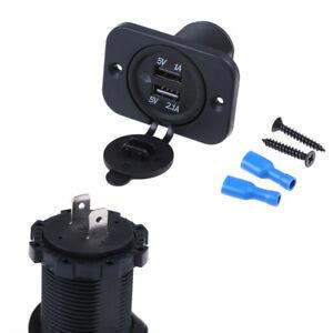 Dual-2USB-outlet-2-1A-port-socket-charger-for-car-boat-motorcycle-12volt-DP