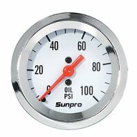 Sunpro Gauge Oil Pressure Engine Run Stand Car Truck Ford Chevrolet Mopar Other