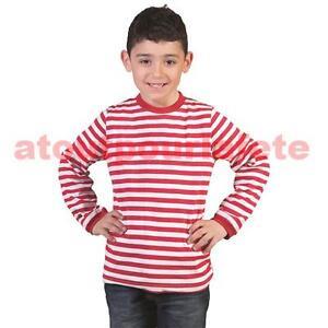 Tee-Shirt-enfant-034-Gondolier-Clown-034-raye-blanc-rouge