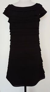 FRENCH-CONNECTION-Black-Pleated-Tunic-Dress-Size-10