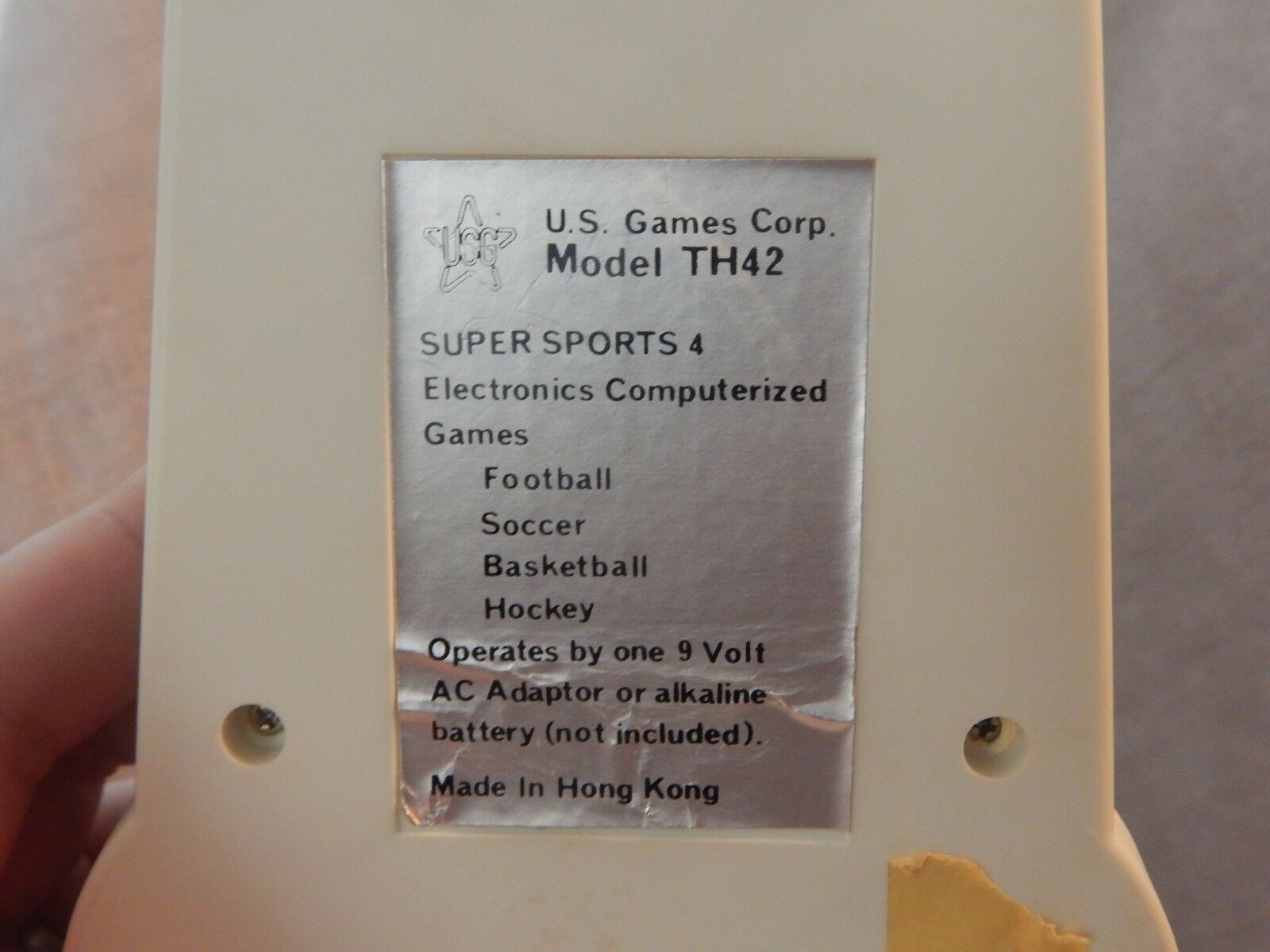 Vintage Handheld Game  Super Sports 4  by by by US Games Corp 1980s 965eb4
