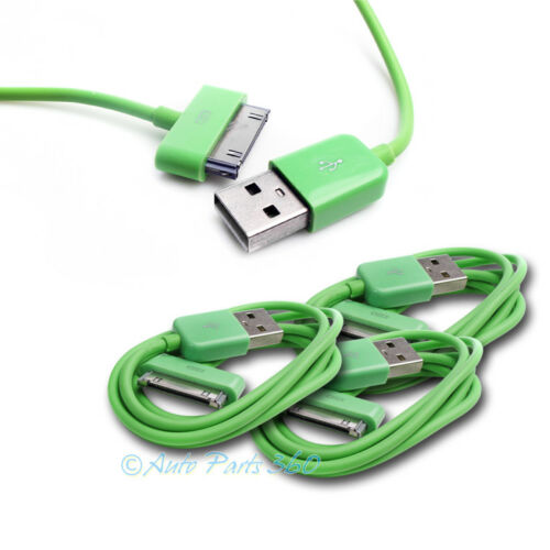 3X 3FT USB TO 30 PIN GREEN CABLE DATA SYNC CHARGER SAMSUNG GALAXY TAB TABLET 7.0