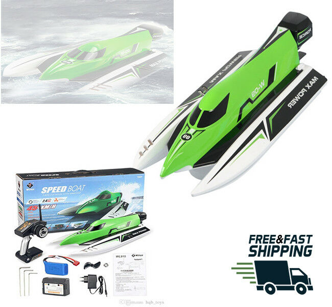 Fast RC boat brush less motor Wltoys model WL915 45km h Best race watercraft RTG