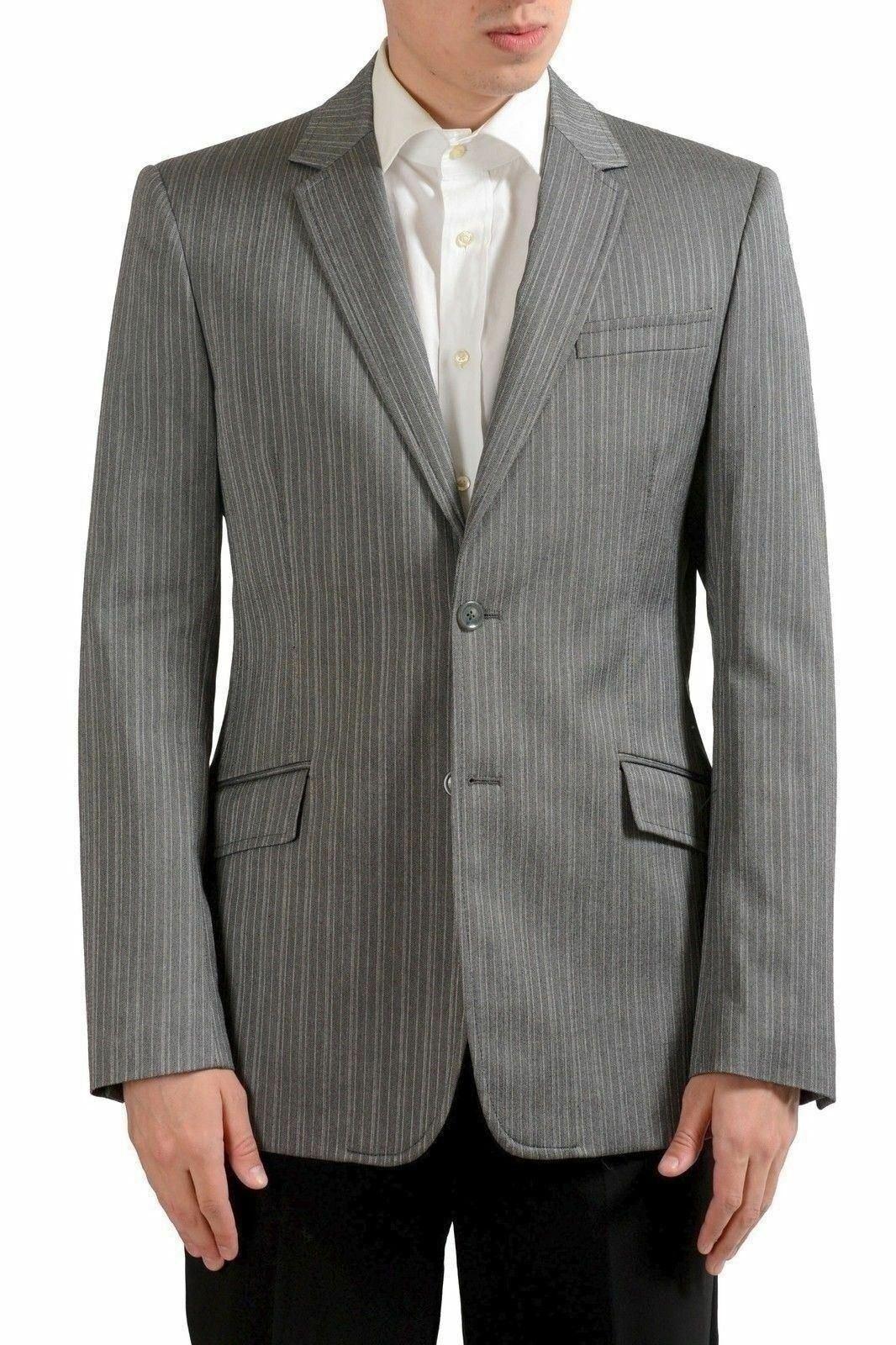 Just Cavalli Men's Wool Two Button Striped Blazer Sport Coat US 40 IT 50