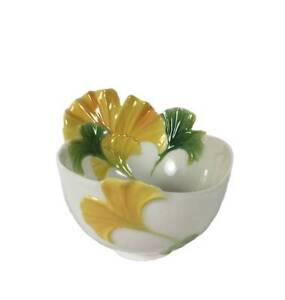 Franz Fine Porcelain SPA Collection Gingko Flower Ornamental Bowl