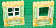 Lego 2x Bright Light Yellow Panel 1x5x6 with window (15627) NEW!!!