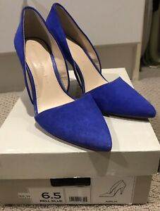 "a59c451973e Banana Republic Adelia Heels - Blue Suede 4"" Heels Size 6.5 Great ..."