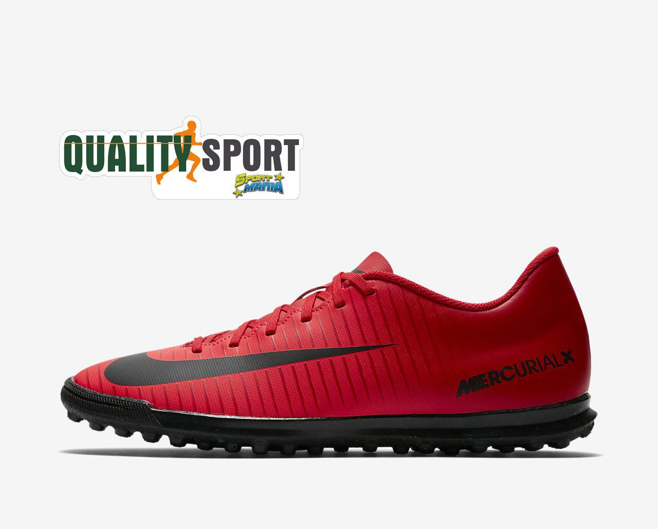 outlet store 6cd1f 1055f Nike Mercurial Vortex III TF TF TF Rosso Scarpe scarpe Uomo Calcetto 831971  616 ce99ac