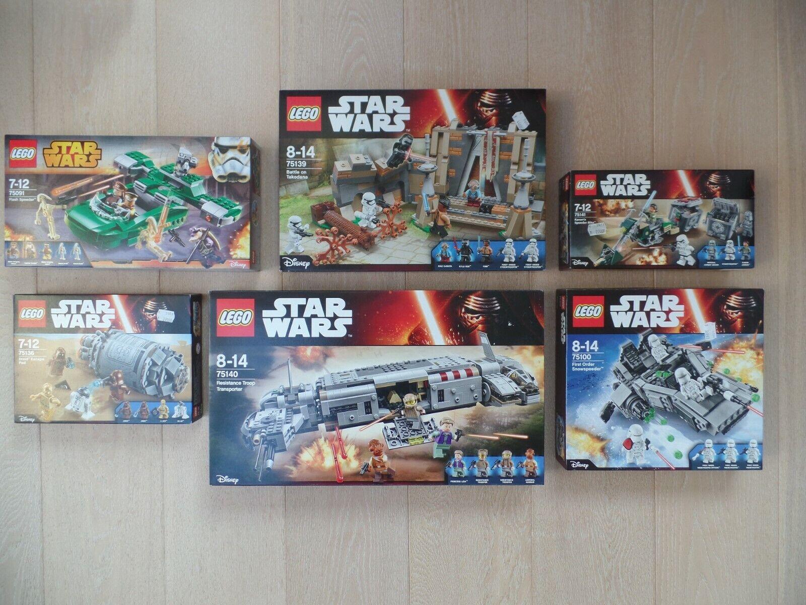 LEGO StarWars Konvolut  6 Sets  Sammlungsauflösung  NEU OVP  passt zu 75059
