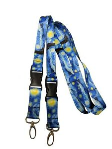 Starry-Night-Neck-Lanyards-keychains-2-Packs-Van-Gogh-Themes-Gift-Name-Tags