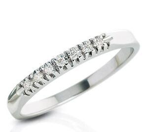 sito affidabile 1243a 5a118 Dettagli su anello veretta oro 18kt con brillanti naturali ct tot  014,veretta diamanti
