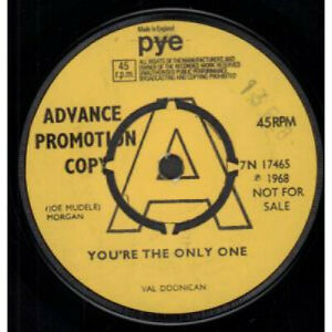 VAL-DOONICAN-You-039-re-The-Only-One-7-034-VINYL-UK-Pye-Promo-B-W-Thunderclouds