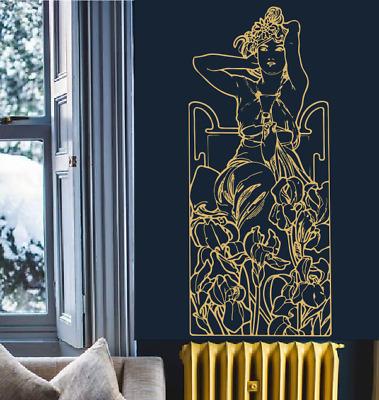 Vinyle Mural//Porte Art Sticker Autocollant Personnalisé Salle cœur Diamants//Perles